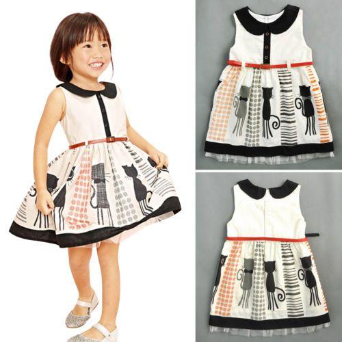 Toddler-Kids-Baby-Girl-Sleeveless-Clothes-Sundress-Princess-Party-Tutu-Dress