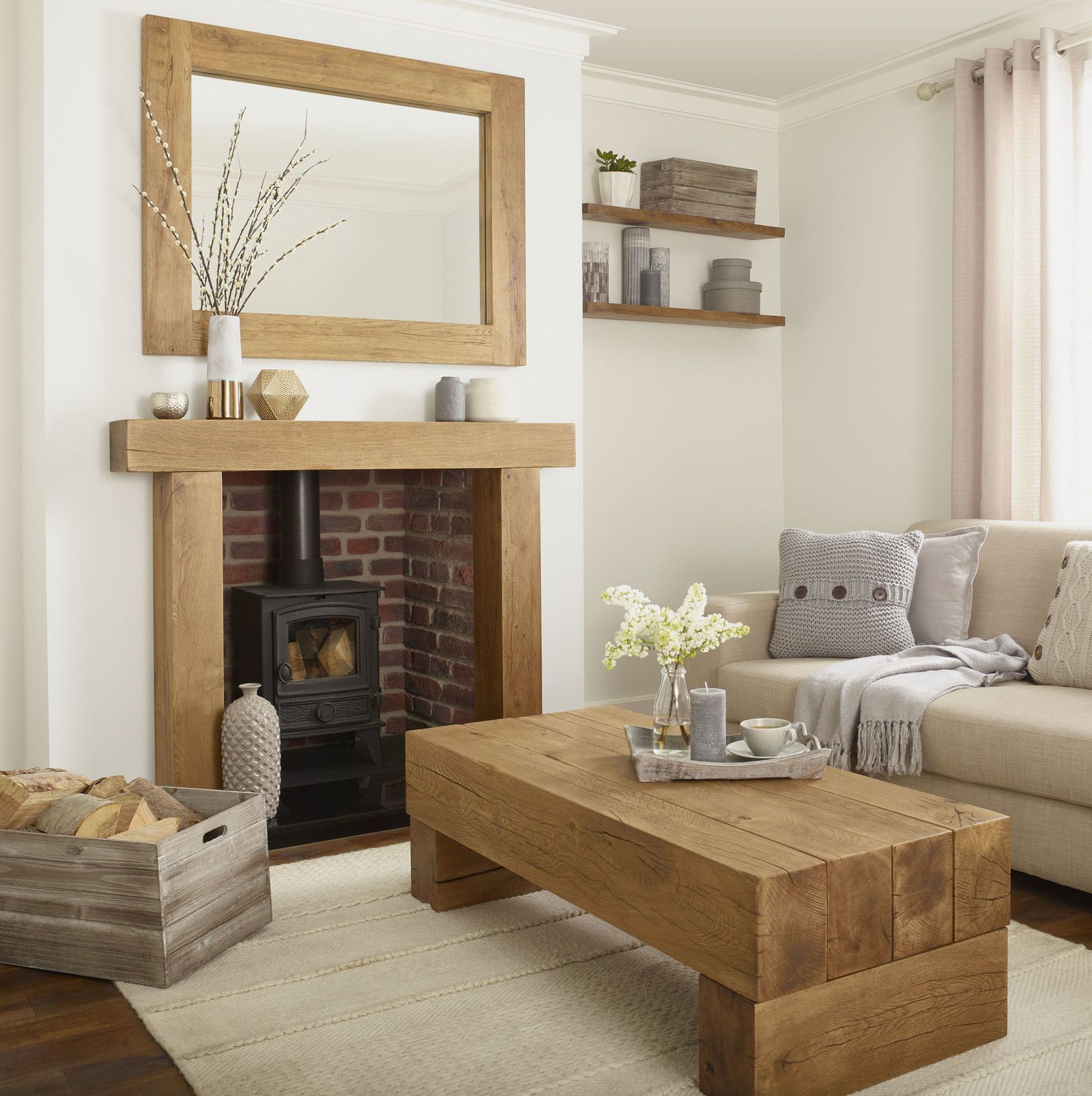 The Willow Cream And Oak Collection White Furniture Living Room Coffee Table Living Room Furniture