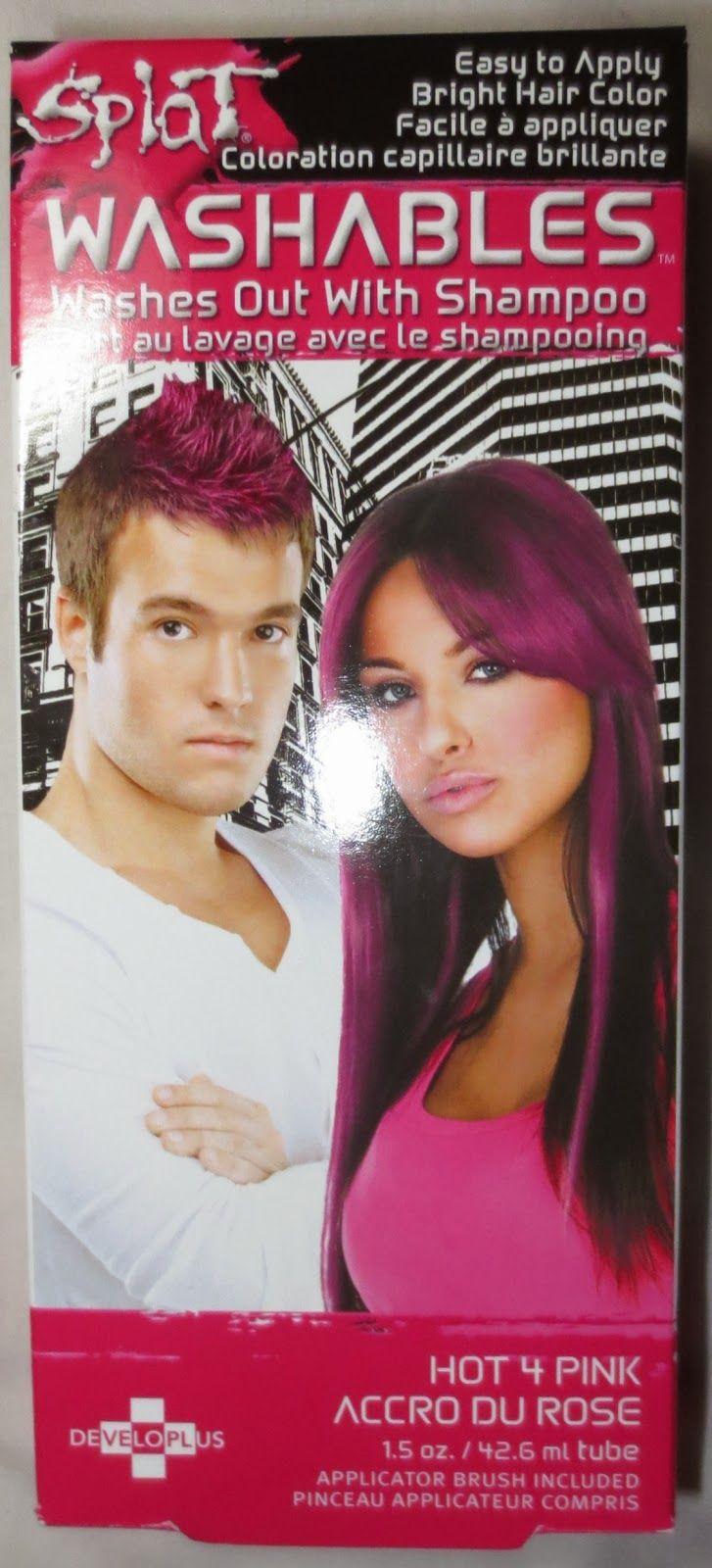 Beyond Blush Splat Washables Hot 4 Pink Splat Hair Color Hair Color Washable Hair Color