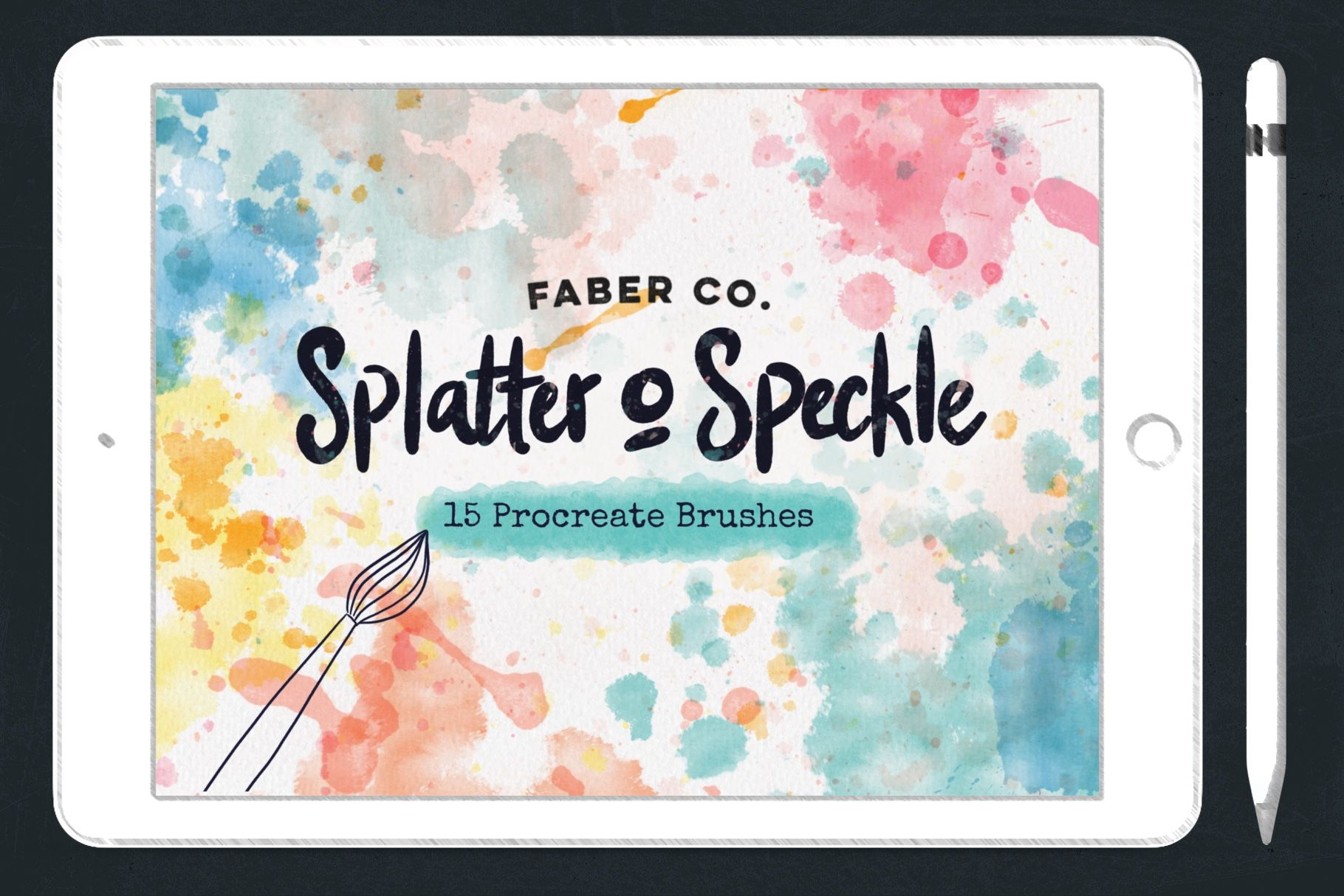 Splatter And Speckle Procreate Stamp Brushes Www Faberdesign Co