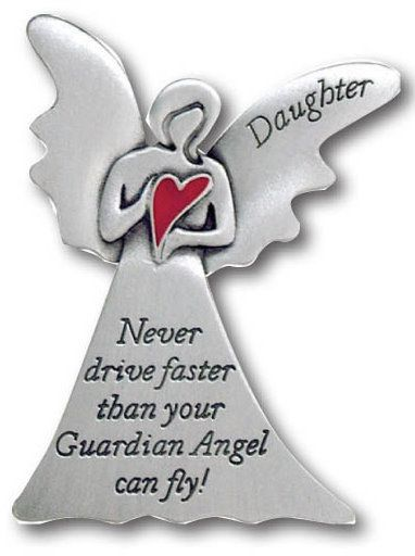 Visor Clip Angel Heart Daughter | Guardian angels, Angel and Cars