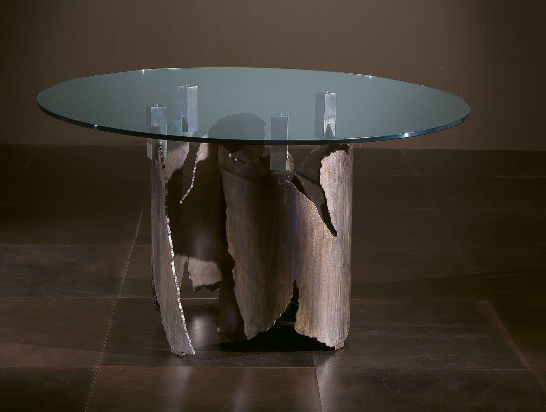 Giorgio 4026 luxury Italian coffee table upholstered in steel