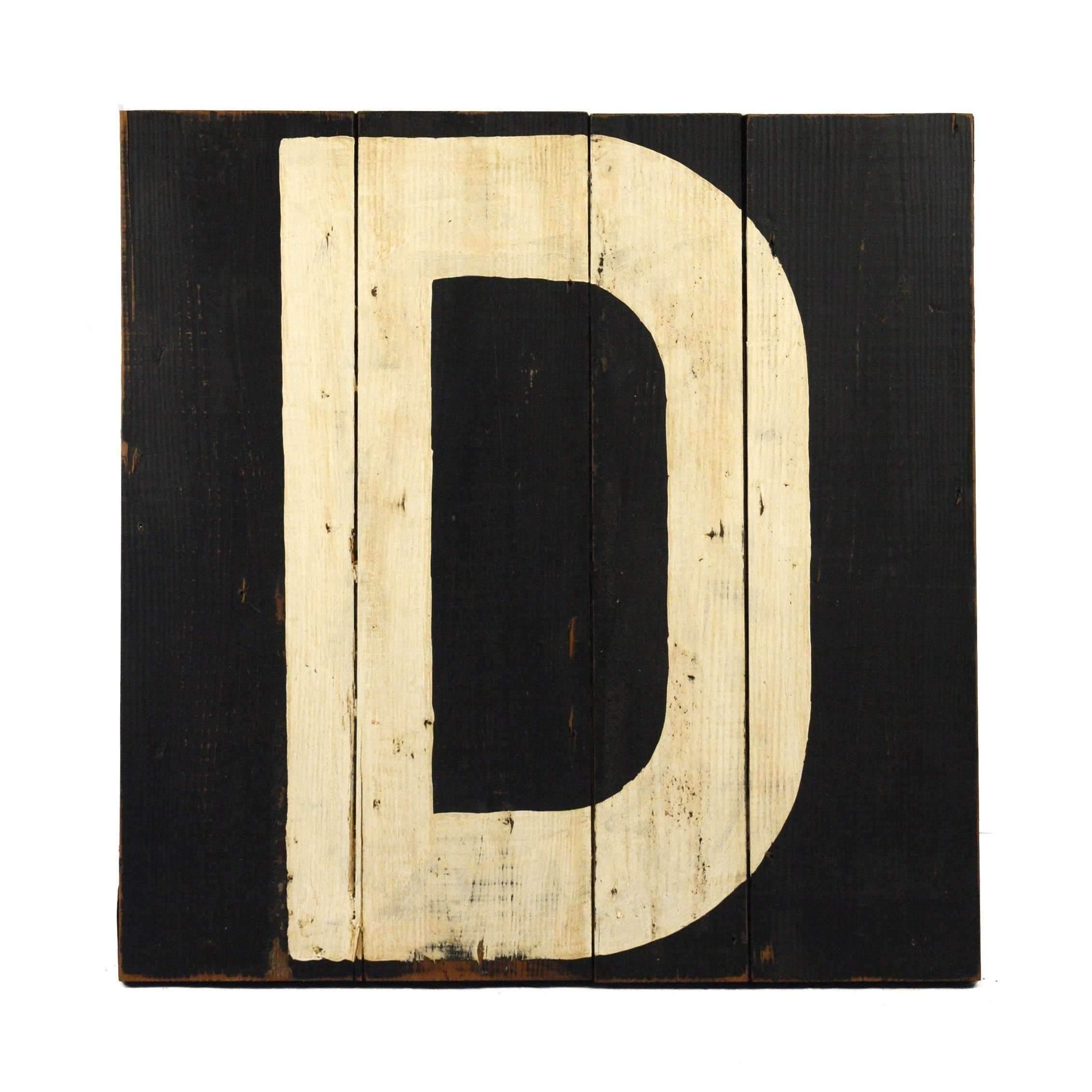 Wooden Letter D by Zentique Wooden letters, Lettering