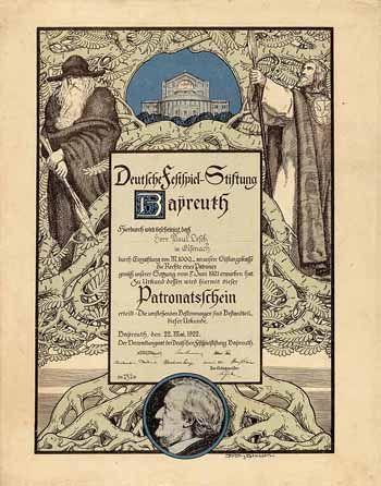 Deutsche FestspielStiftung Patronatsschein 1.000 Mark 22