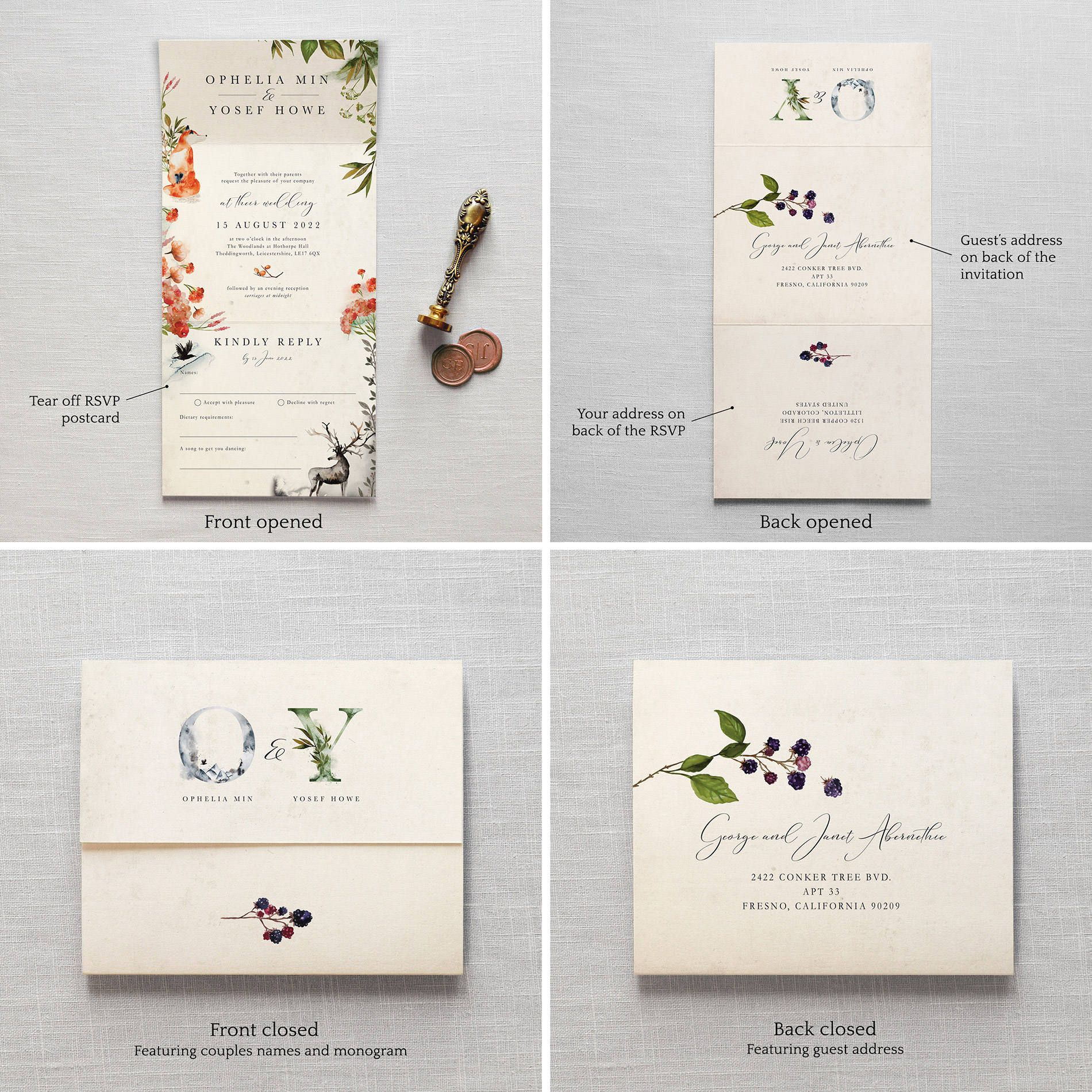All In One Wedding Invitations No