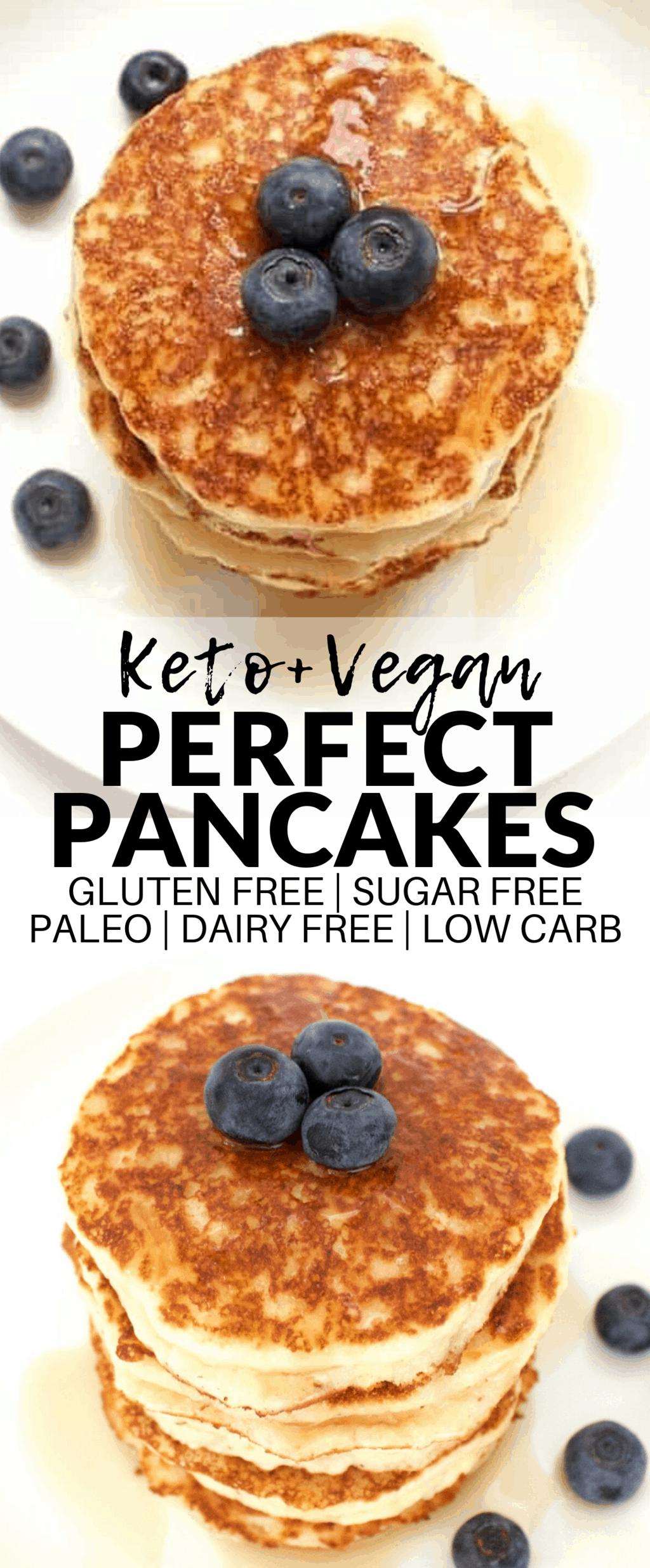 Perfect Vegan Pancakes (Keto + Sugar-Free + Gluten-Free)