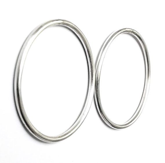 785cd42bd Large Hoop Earrings /Sterling Silver Simple Stud Earrings / Large Geometric Minimalist  Earrings / Gift for Her / Statement Earrings