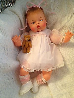 Vintage Antique Ideal 1960 S Musical Tiny Thumbelina Baby Doll Ott 14 Works Baby Dolls Chatty Cathy Doll Old Dolls