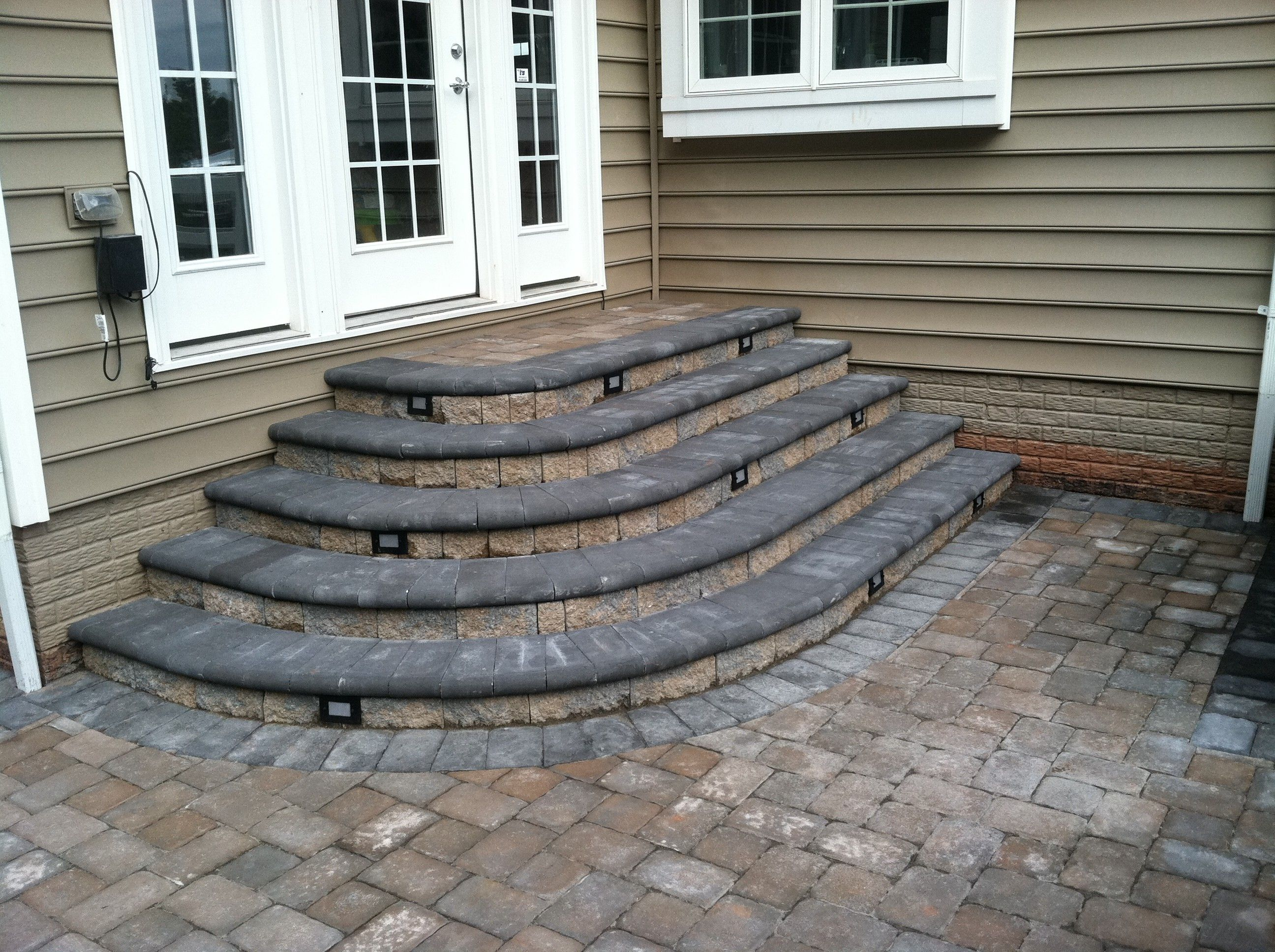 Semi Circular Ep Henry Steps With Bullnose Treads Patio