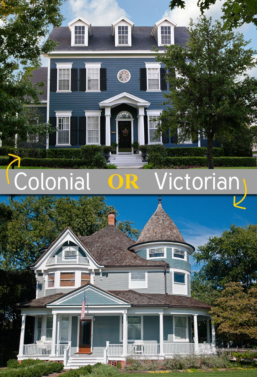 Which One Is More Your Style Colonial Or Victorian Homes Thisorthat Realestate House Styles Real Estate Mansions