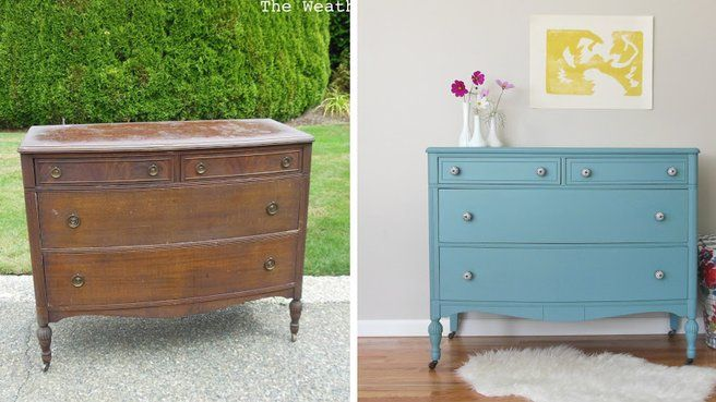 20 idées DIY pour relooker un meuble chiné Commode ancienne - Moderniser Un Meuble Ancien