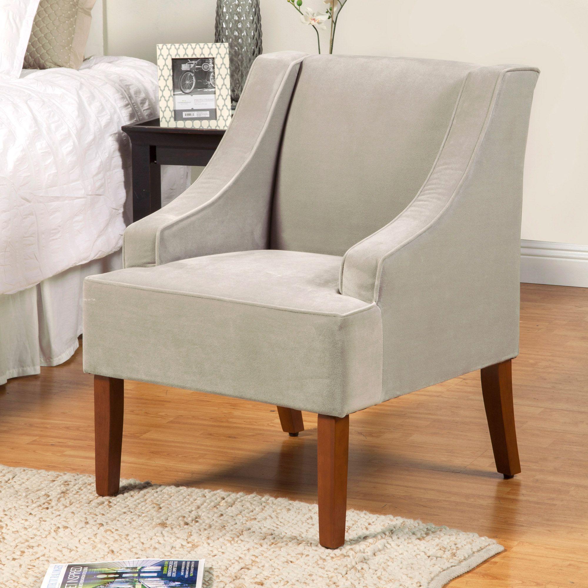 Swoop Arm Velvet Accent Chair