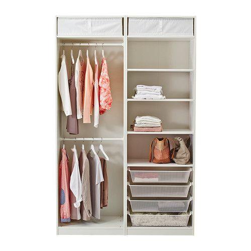 Ikea kleiderschrank weiß mit schiebetüren  PAX Kleiderschrank, weiß, Hasvik weiß | Pax wardrobe, Ikea pax ...