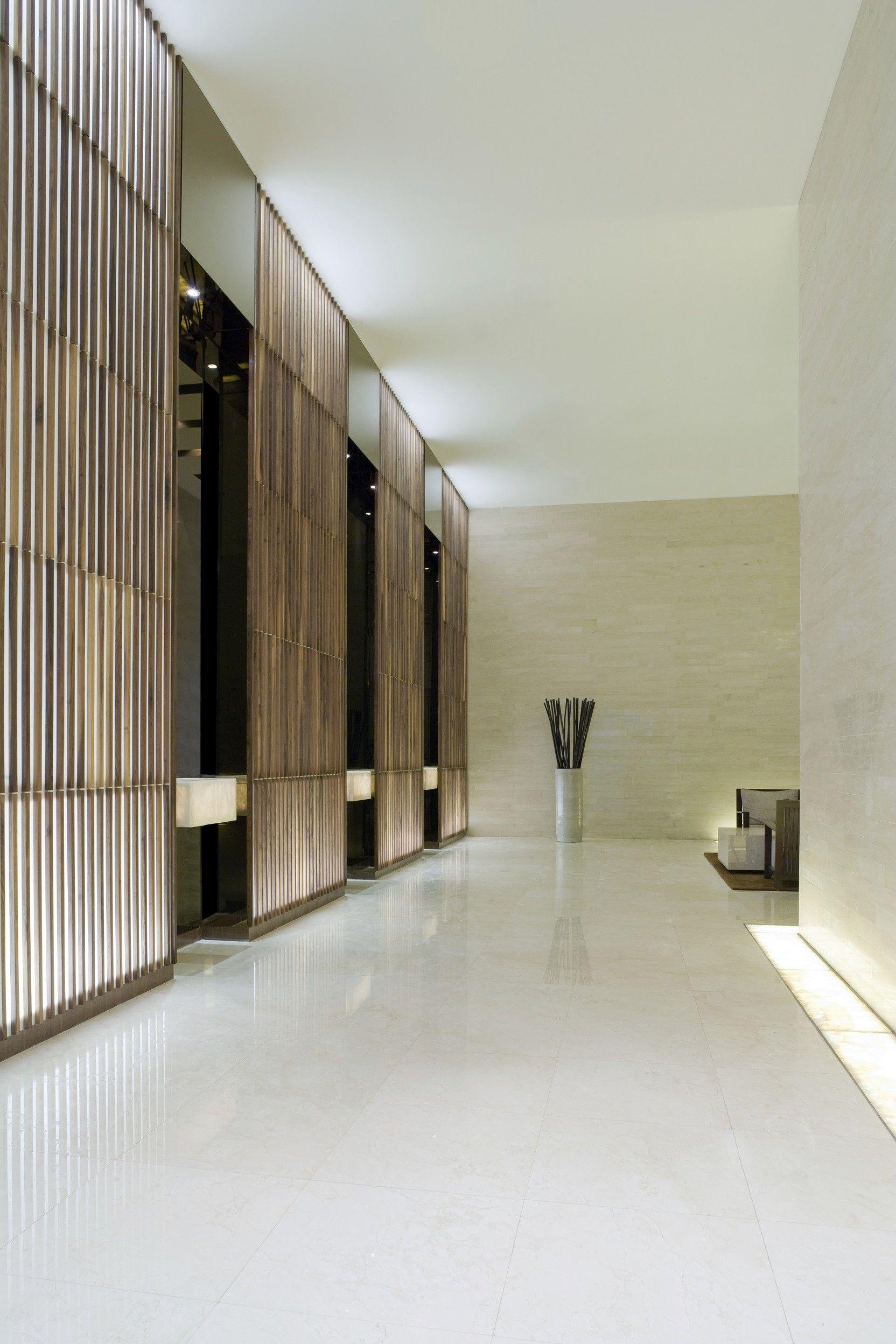 Modern spa designs 床, 廊下