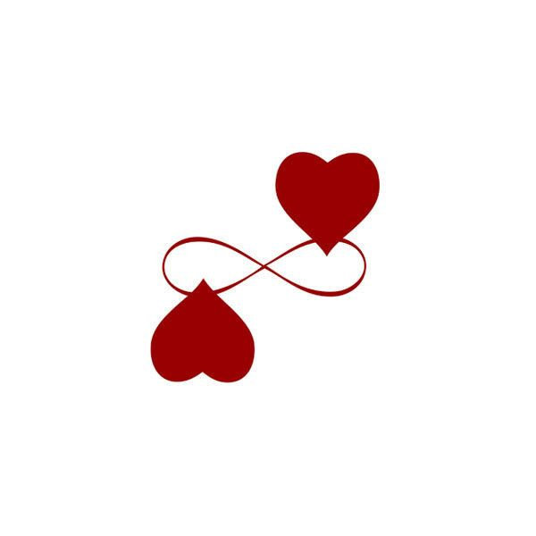 Infinity Love red heart valentines printable by gonulk on Etsy ($5 ...