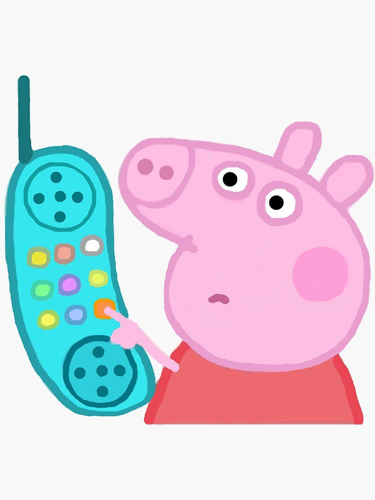 Peppa Pig Hanging Up The Phone : peppa, hanging, phone, Peppa, Hanging, Sticker