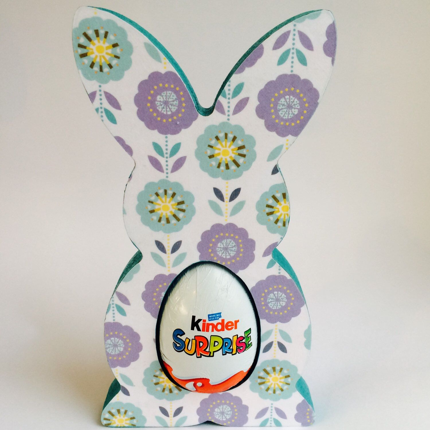 Retro floral print kinder egg easter bunny good for grown ups items similar to easter bunny kinder egg holder floral retro print purple blue teal tones perfect easter gift flowers turquoise yellow aqua lilac on etsy negle Choice Image
