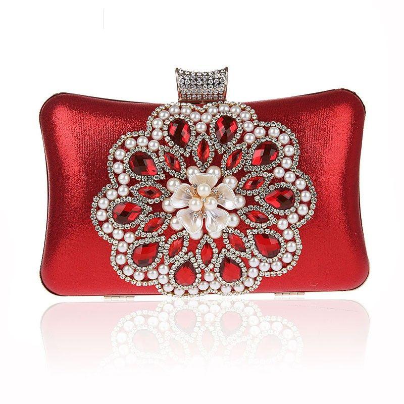 Tngan Womens Evening Handbag Clutch Fashion Wedding Party Prom Envelope Purse