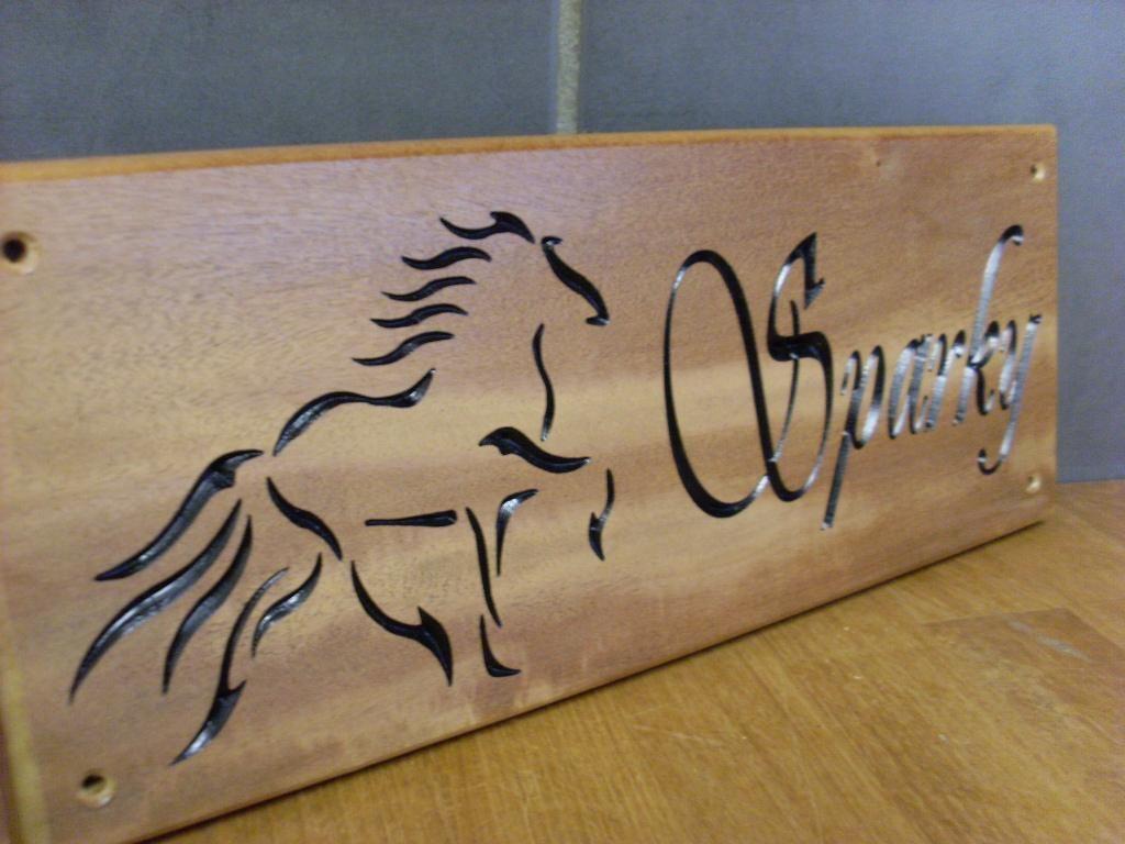 Engraved Wooden Stable Door Signs Horse Name Plaques Stable Door