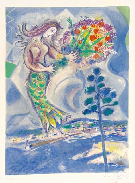 Marc Chagall Siren With Pine Tree From Nice And The Cote D