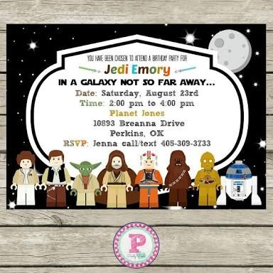 photo about Star Wars Birthday Invitations Printable titled Lego Star Wars Bash Invites Printable Totally free