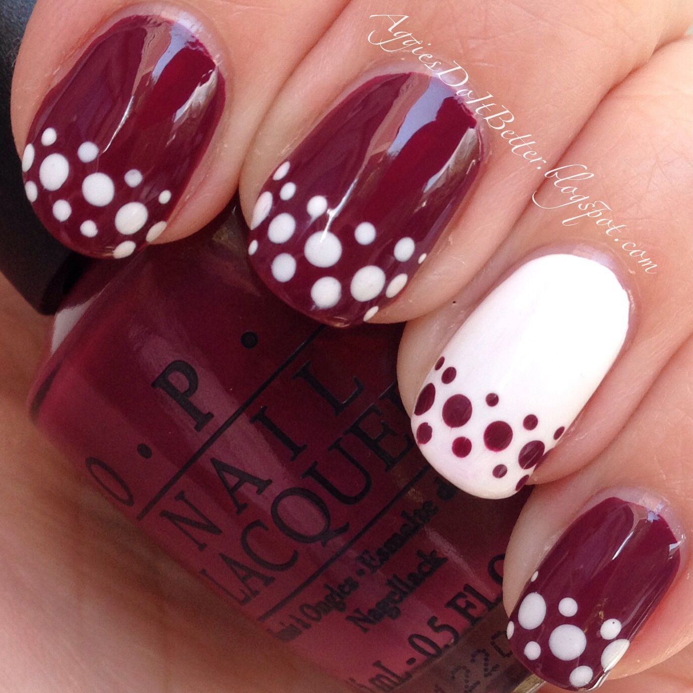 Outdoor lighting) Aggie game day nails! Maroon :) I finally tried ...