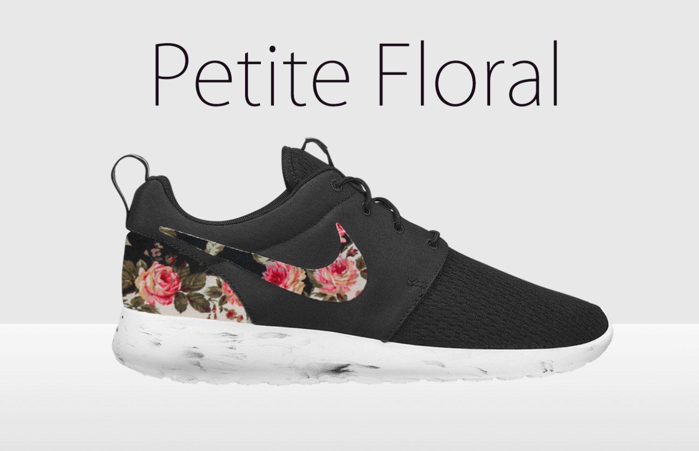 Floral Nike Roshe schwarz und weiß Nike Floral Roshe von
