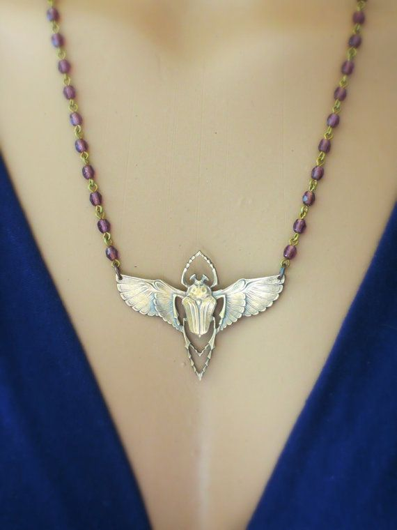 Art Deco Necklace Vintage Necklace by chloesvintagejewelry