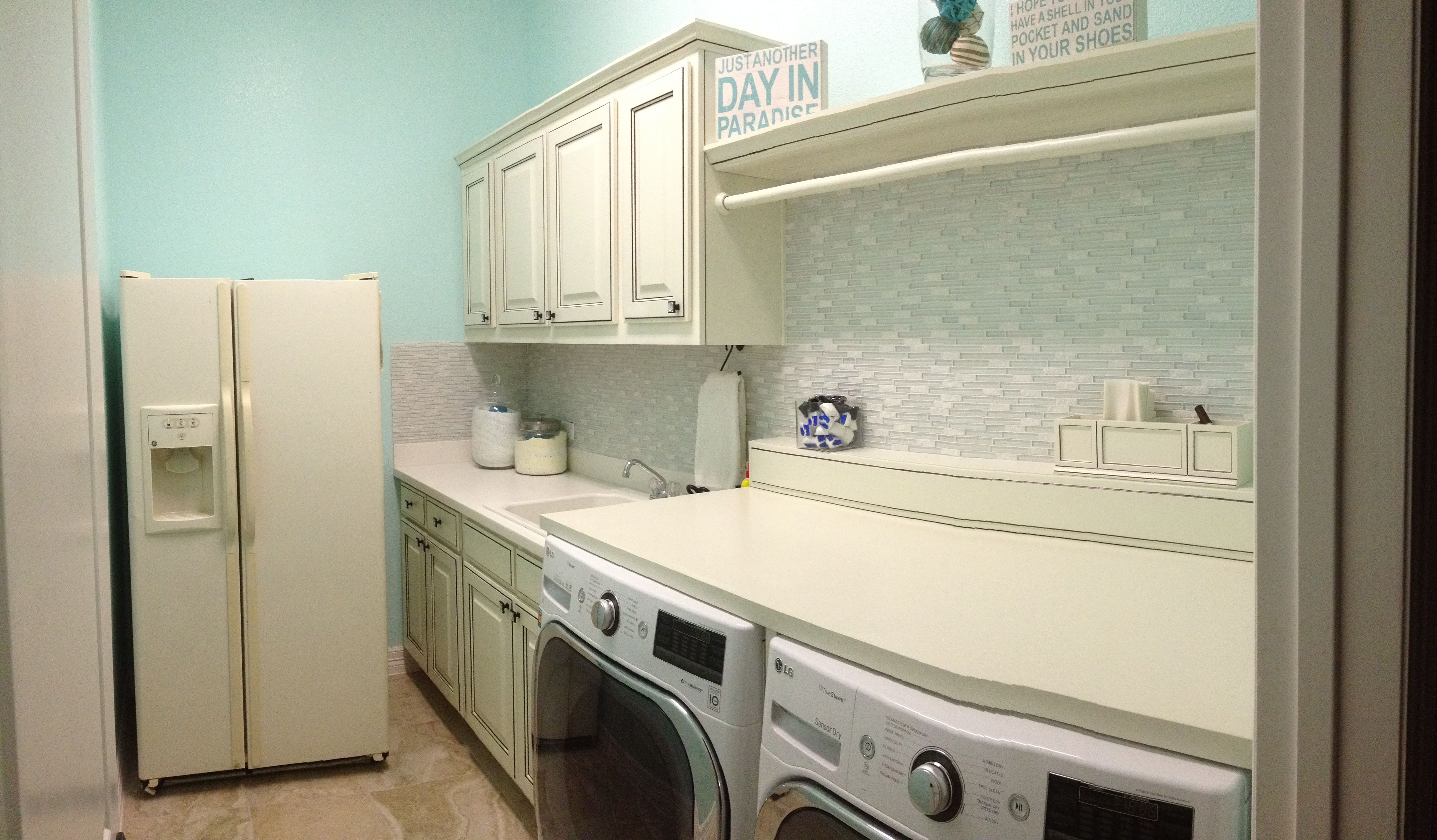 Pollyanna Reschke Interior Designs - Laundry Room. Valspar paint ...