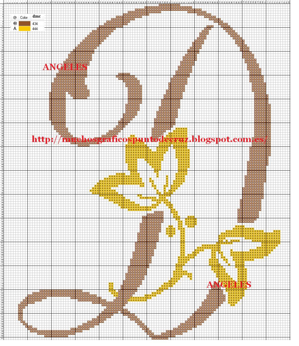 GRAFICOS PUNTO DE CRUZ GRATIS : INICIALES(14) | Graficos
