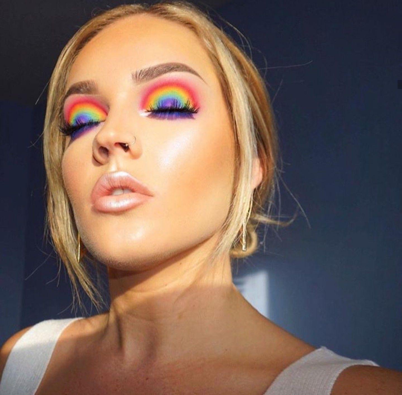 48 Pretty Rainbow Makeup Ideas Fashionssories Com Rainbow Makeup Pride Makeup Cute Makeup