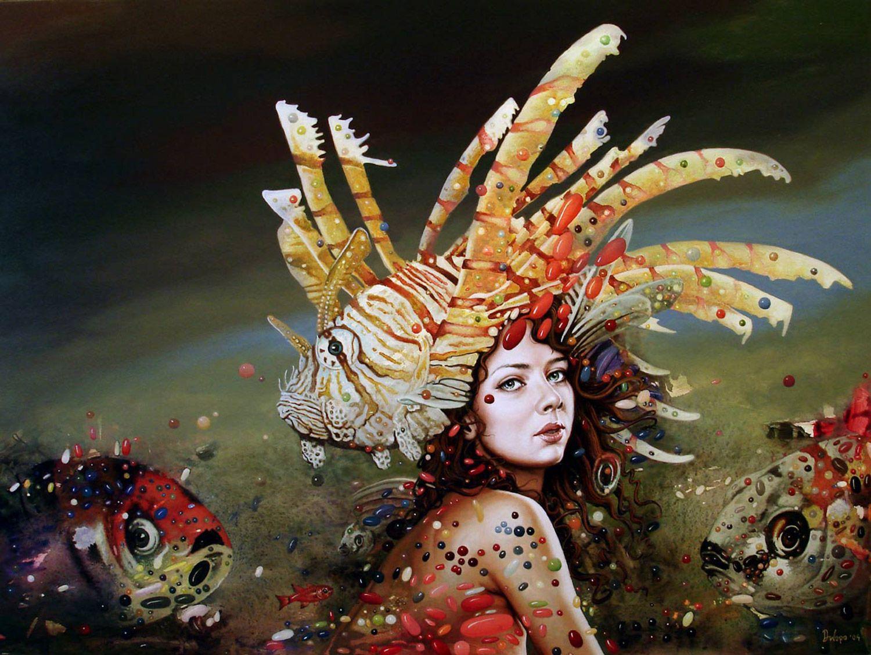 Dragan Ilic Di Vogo é um pintor de Belgrado, que combina fantasia com o surrealismo. Em sequências com mulheres guerreiras, anjos de pedra e objetos flutuantes, as suas pinturas são compostas por detalhes simbólicos às pinturas de Salvador Dalí.          |via