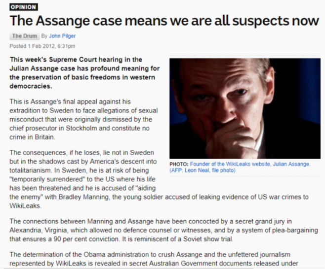 The Assange Case Means We Are All Suspects Now John Case Meant