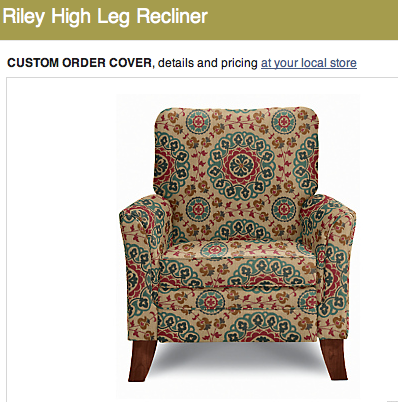 Possible Lazy Boy Accent Chair Recliner With Pattern Fabric