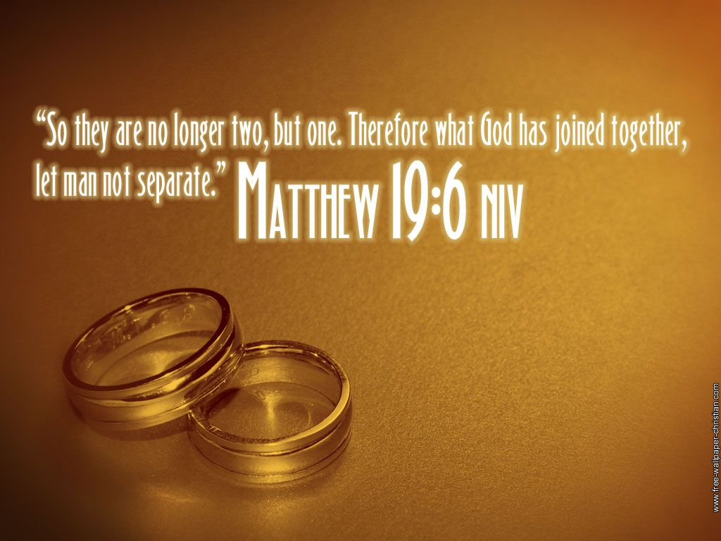 love this verse for the wedding so they are no longer two but one