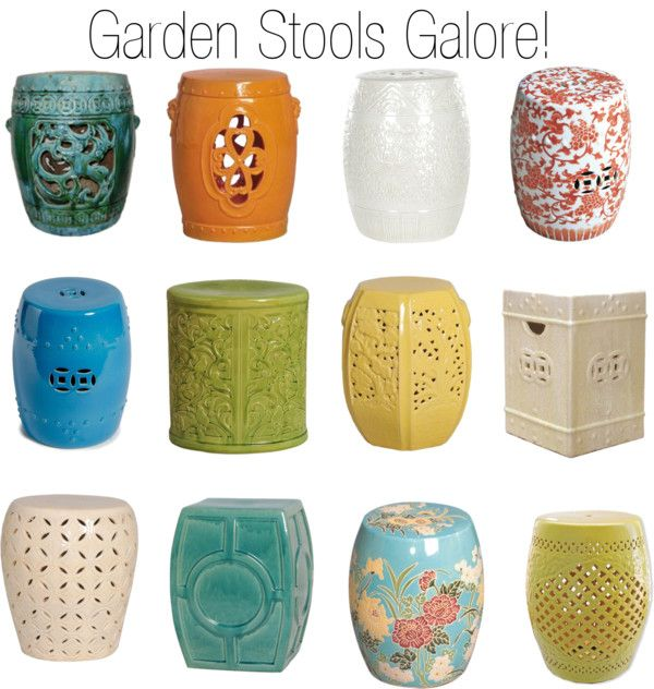Ceramic Garden Stools  by insideavenue on Polyvore  sc 1 st  Pinterest & Ceramic Garden Stools