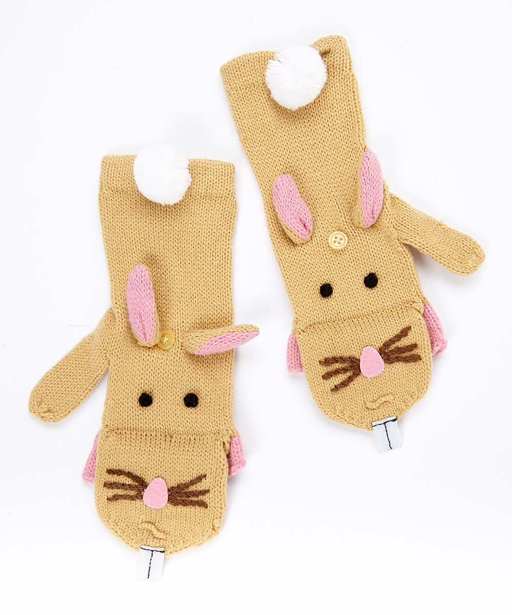 Toddler Bunny Mittens - Set of Four