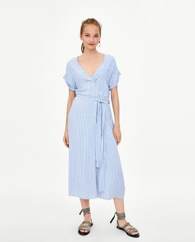 20904c0b551 Image 1 of MIDI SHIRT DRESS from Zara