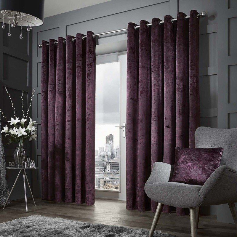 Downton Luxury Ready Made Lined Eyelet Curtains
