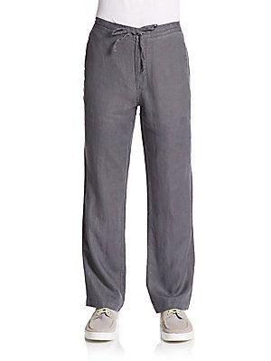 Saks Fifth Avenue Drawstring Linen Pants -