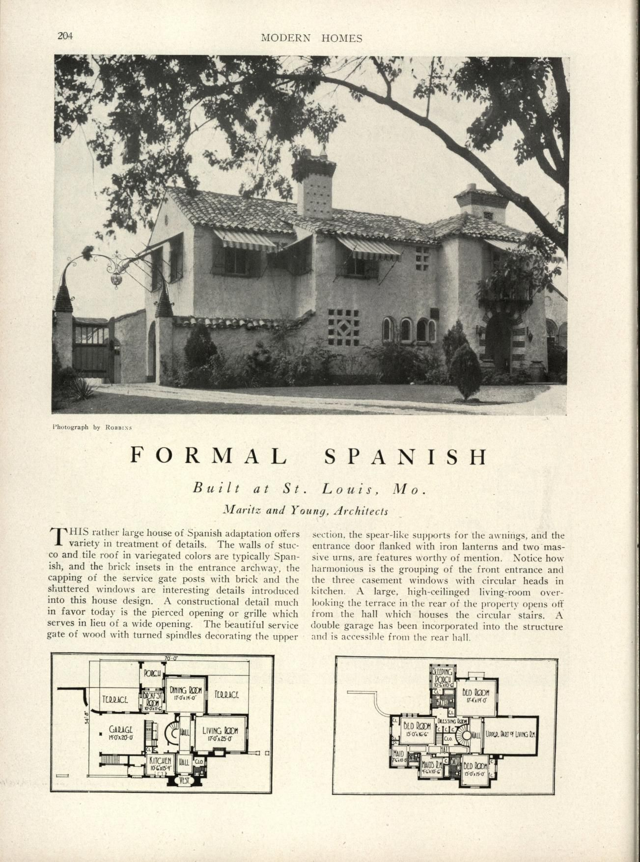 Modern homes: their design and construction | Spanish Colonial ...
