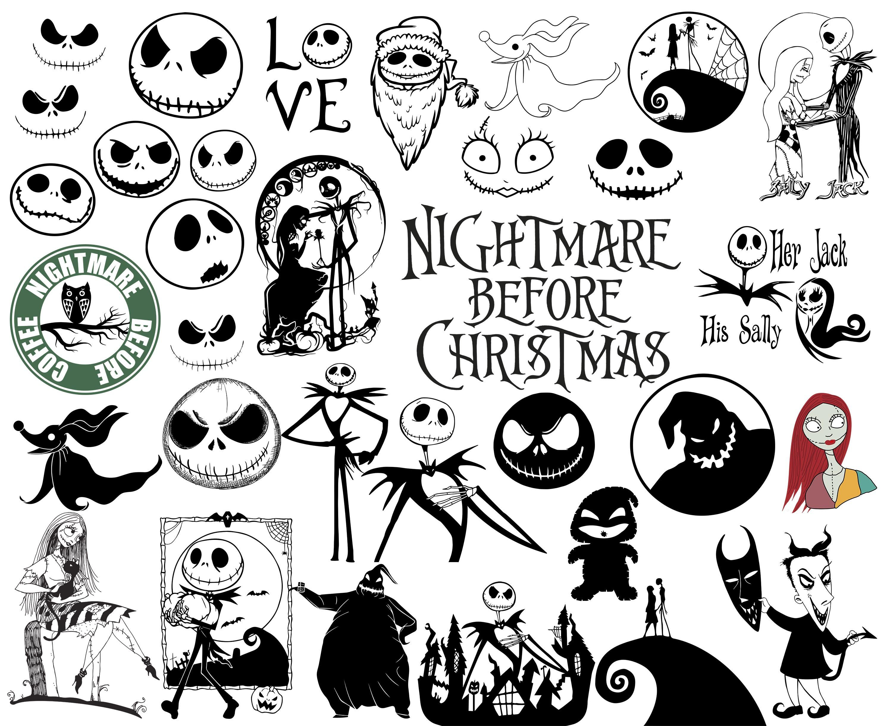 Nightmare Before Christmas Svg Christmas Svg Nightmare Svg Etsy Nightmare Before Christmas Tattoo Christmas Tattoo Nightmare Before Christmas Ornaments