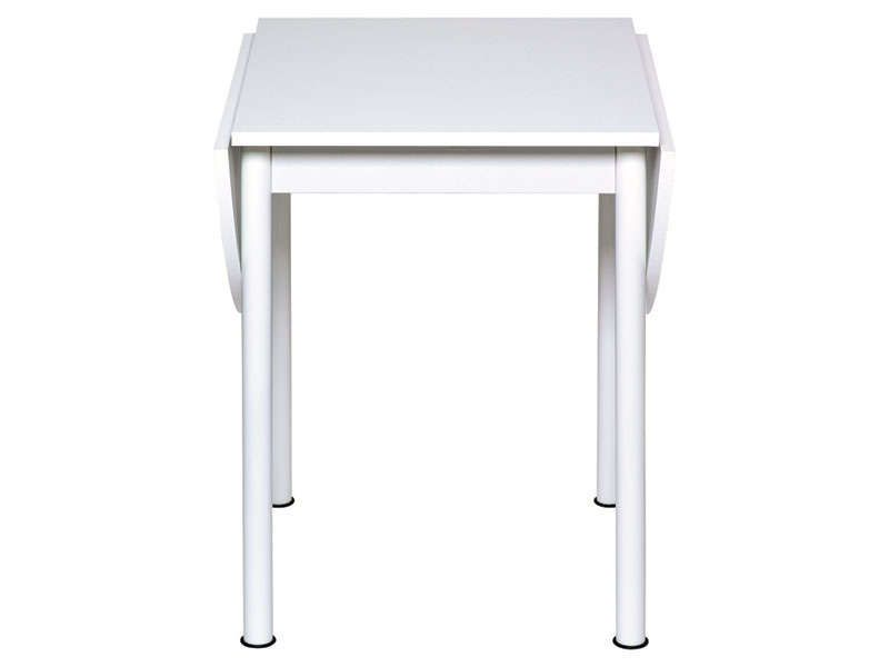 Table avec allonges rabattables FLIPP coloris blanc - Vente de Table - Conforama Tables De Cuisine