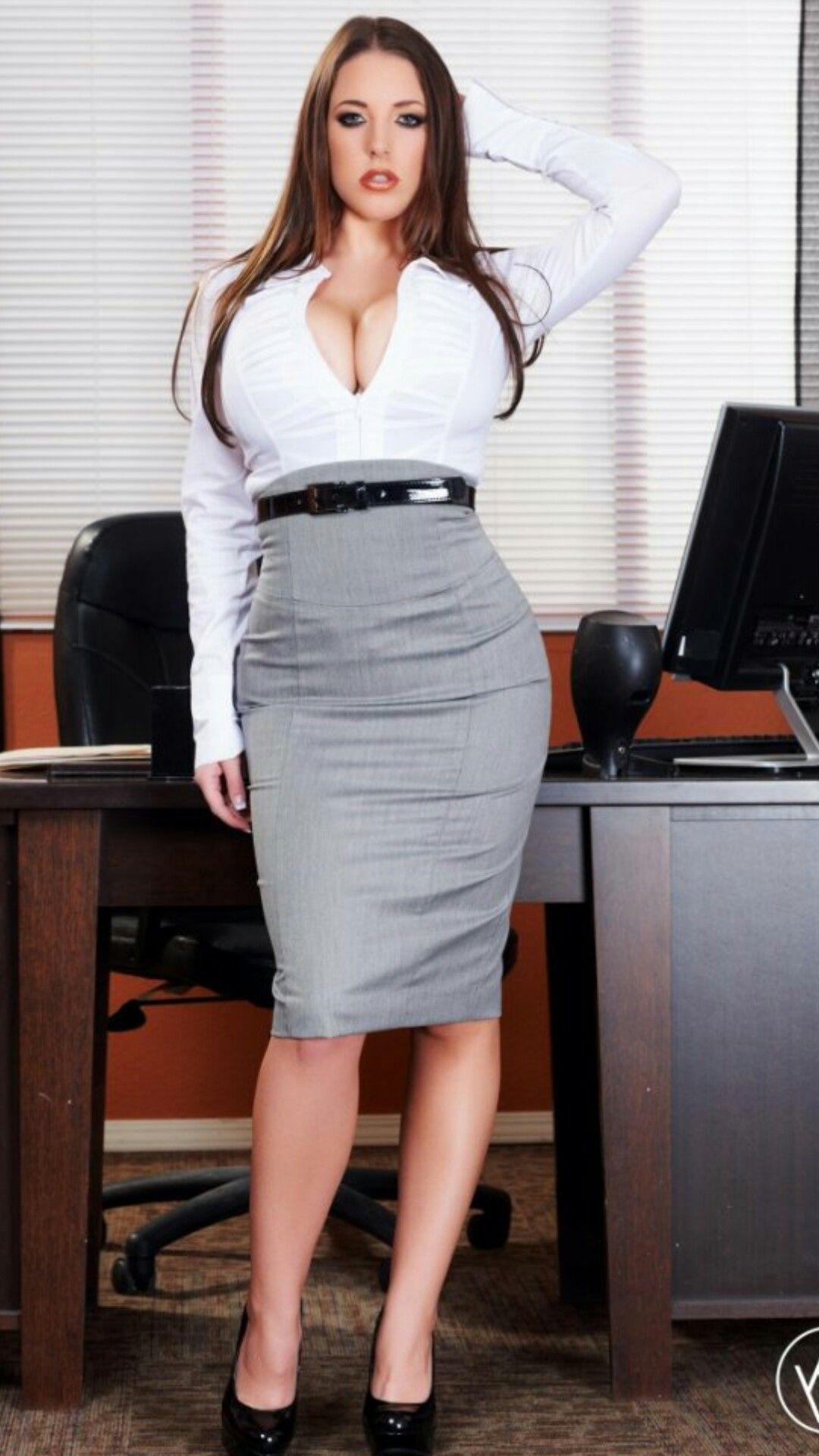Busty Secretary Blowjob
