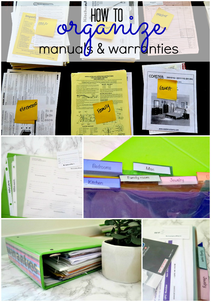 household warranties manuals binder the pretty pintastic party organization household. Black Bedroom Furniture Sets. Home Design Ideas