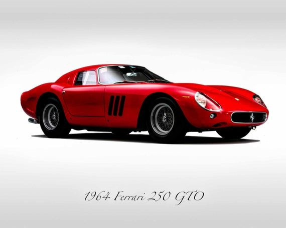 Classic Cars – 1964 Ferrari GTO 250 – Print