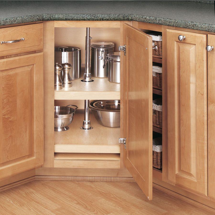 Rev A Shelf 2 Tier Wood D Shape Cabinet Lazy Susan Lowes Com Kitchen Remodeling Projects Kitchen Cabinet Hardware Lazy Susan