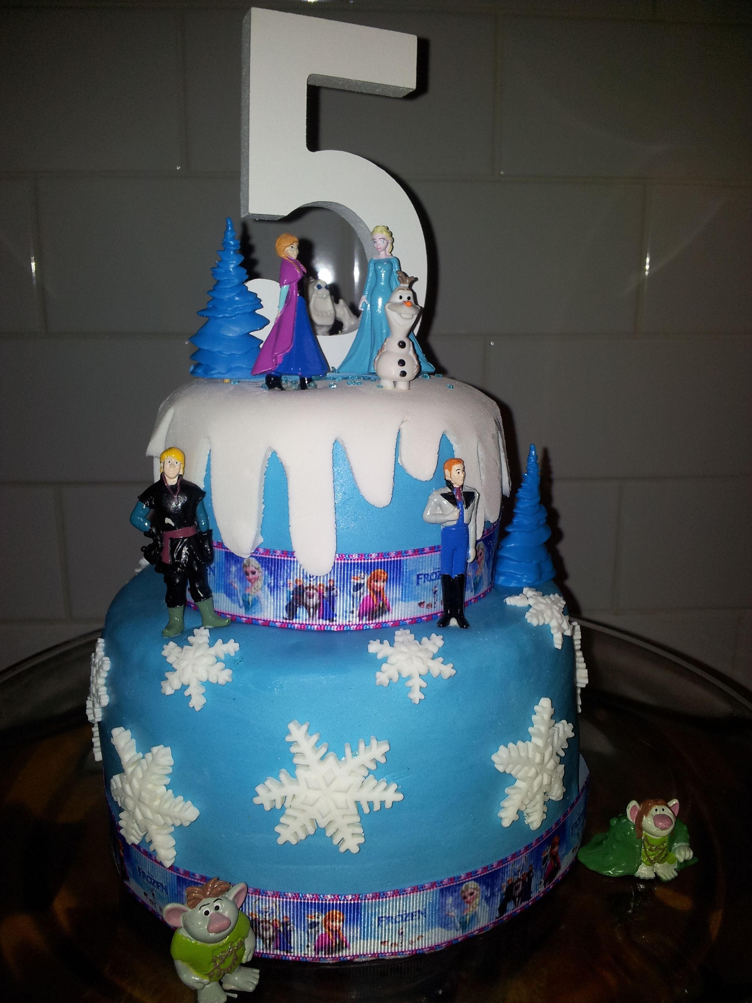 Fine Disney Frozen Birthday Cake Made For My 5 Year Old Made Easy With Funny Birthday Cards Online Fluifree Goldxyz