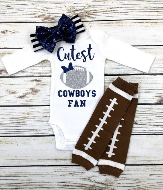 Cutest Cowboys Fan Football Bodysuit Outfit For Baby Girl #babygirlhairstyles