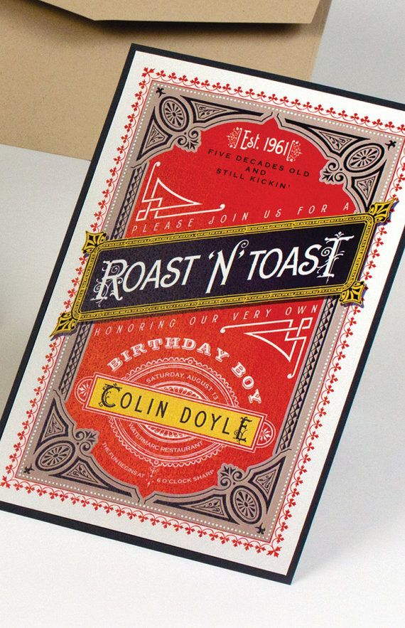 Roast And Toast Birthday Invitation Dad S 50th Birthday Birthday
